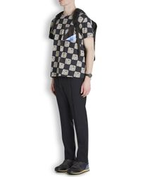 Raf Simons Blue Floral Astronaut Print T-shirt for men