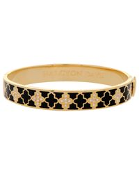 Halcyon Days | Black Halycon Days Agama Sparkle 18ct Gold Plated Bangle | Lyst