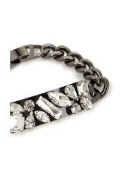 Forever 21 | Metallic Rhinestoned Chain Bracelet | Lyst