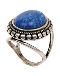 Lucky Brand | Blue Silvertone Lapis Oval Ring | Lyst