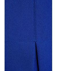 Proenza Schouler Blue Pleated Stretchcrepe Dress