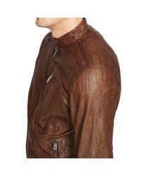 Ralph Lauren Black Label - Brown Leather Racer Shirt Jacket for Men - Lyst