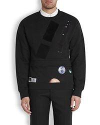 Raf Simons Black X Sterling Ruby Fathers Cotton Sweatshirt for men