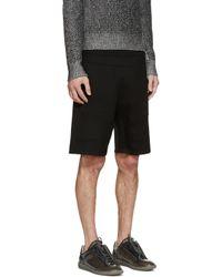 Neil Barrett - Black Neoprene Biker Shorts for Men - Lyst