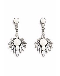 Ellen Conde | Metallic Ivory Pearl And Crystal Earrings | Lyst