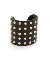 Michael Kors - Statement Astor Cuff Bracelet - Black/gold - Lyst
