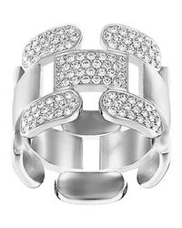 Swarovski | Metallic Cube Ring | Lyst