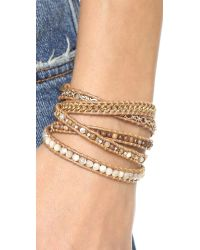 Chan Luu - Beaded Wrap Bracelet - Brown Mix/henna - Lyst
