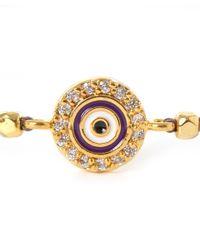 Tai | Purple Evil Eye Beaded Bracelet | Lyst