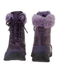 UGG Purple Adirondack Ii Snow Boot Blackberry Wine Leather
