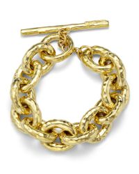 Ippolita | Metallic 18k Hammered Bastille Link Bracelet | Lyst