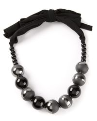 Armani Black Beaded Necklace