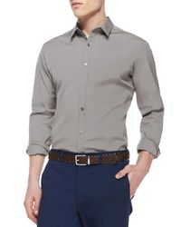 Theory - Gray Zach Ps Solid Long-sleeve Shirt for Men - Lyst