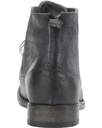 Shoto - Black Washed Lace-Up Ankle Boots for Men - Lyst