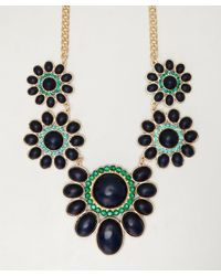 Sparkling Sage - Blue Stone and Green Crystal Floral Necklace - Lyst