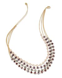 INC International Concepts | Metallic Gold-tone Multi-row Beaded Necklace, Only At Macy's | Lyst