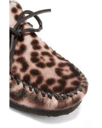Étoile Isabel Marant Multicolor Fell Leopard-print Calf Hair Moccasins