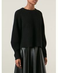 The Row Black 'finn' Sweater