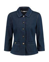 Diane von Furstenberg Blue Callin Denim Jacket