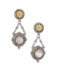 Konstantino   Metallic Erato Labradorite, 18k Yellow Gold & Sterling Silver Drop Earrings   Lyst