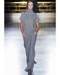 Haider Ackermann Gray Wool Herringbone Jumpsuit