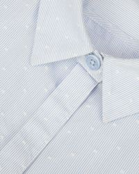 Ted Baker Blue Aviana Dot Stripe Cotton Shirt