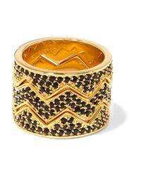 Eddie Borgo | Metallic Bear Trap Set Of Three Gold-tone Crystal Rings | Lyst