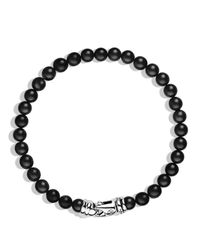David Yurman Spiritual Beads Black Onyx Bracelet for men