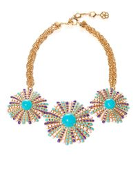 Trina Turk | Multicolor Beaded Cluster Statement Necklace | Lyst