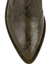 Simone Rocha Green Snake-effect Glossed-leather Brogues