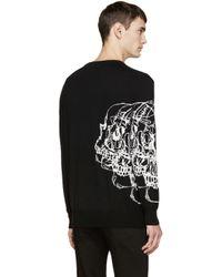 Alexander McQueen | Black Knit Best Skulls Sweater for Men | Lyst