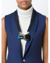 Marni | Blue Contrasted Panel Necklace | Lyst