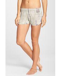 Hard Tail Brown 'Runner' Knit Shorts