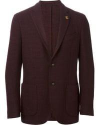 Lardini Red Houndstooth Jacket for men