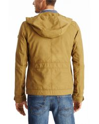 BOSS Orange - Natural 'ojohnny-w' | Cotton Blend Utility Jacket With Hood for Men - Lyst