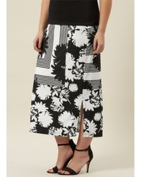Windsmoor White Mono Print Jersey Skirt