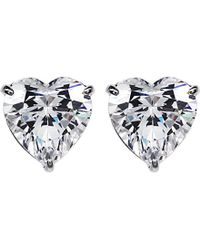 Carat* | Metallic Hearts For You 1.5ct Solitaire Stud Earrings | Lyst