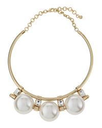Fragments | White Pearly Bead Collar Necklace | Lyst