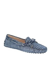 Tod's   Blue Gommino Driving Shoes   Lyst