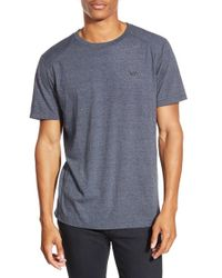 RVCA | Blue 'compound' Performance Crewneck T-shirt for Men | Lyst