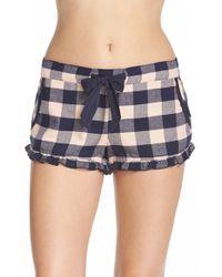 Make + Model Pink Ruffle Flannel Shorts
