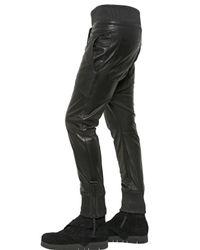 Alexandre Plokhov Black Nappa Leather Trousers for men