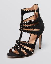 Sigerson Morrison Black Open Toe Sandals Melania High Heel