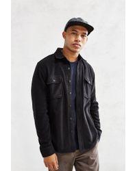 Obey | Black Lafayette Polar Fleece Shirt Jacket for Men | Lyst