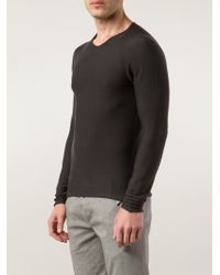 fe8cce10ea6f Label Under Construction V-neck Sweater in Brown for Men - Lyst