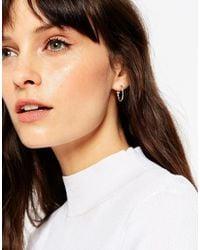 ASOS | Metallic 20mm Etched Hoop Earrings | Lyst