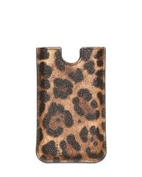 Dolce & Gabbana Multicolor Leopard Print Pvc Iphone 4 Case