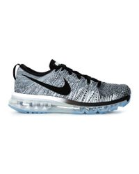 Nike - Gray Flyknit Air Max Sneakers - Lyst