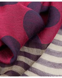 Paul Smith - Red Block Jacquard Print Scarf - Lyst