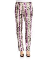 Lord & Taylor Multicolor Patterned Knit Pants
